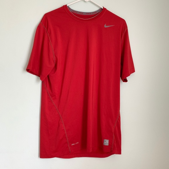 ‼️Sale‼️Mens Red Nike Pro Athletic Shirt